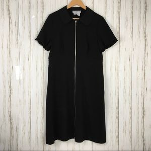 Sharagano Paris Short Sleeve Zipper Dress